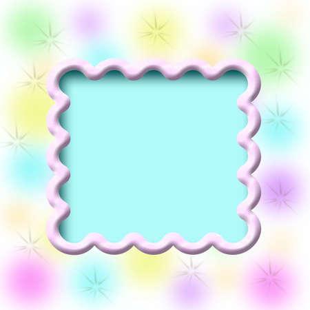 dreamy pastel blurs on scrapbook page illustration