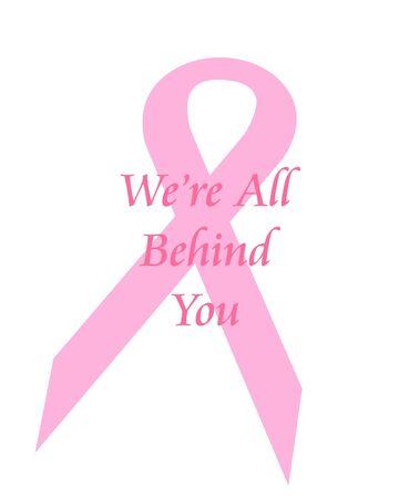 ピンクリボン乳がんがんサポート ポスター イラスト 写真素材