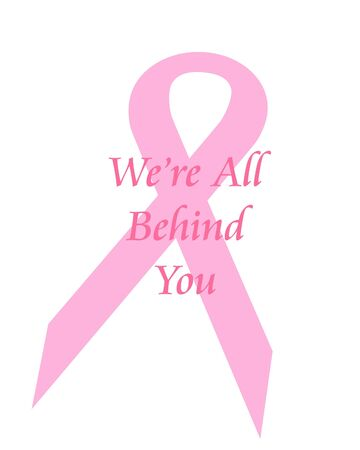 pink ribbon breast cancer support poster illustration