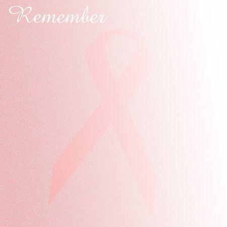 disappearing pink ribbon breast cancer eradicated illustration Stock Illustration - 9679368