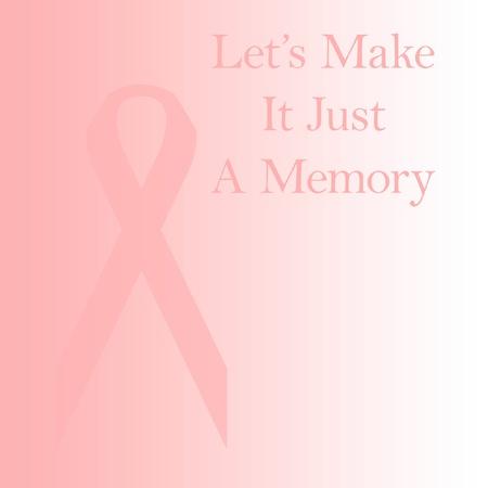 사라지는 핑크 리본 유방암 박멸 일러스트 레이션