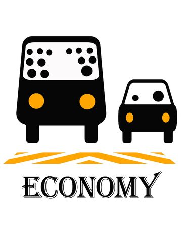 smart commuters using public transit vehicle illustration illustration