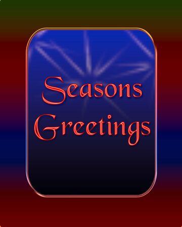 sedate: seasonal dark masculine frame on blue background illustration Stock Photo