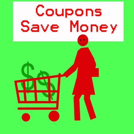 female figure pushing a grocery cart illustration Banco de Imagens