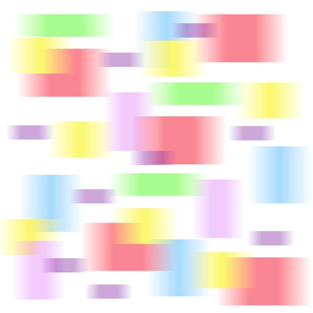 pastel colored blurs on white background gift bag illustration Stock Photo