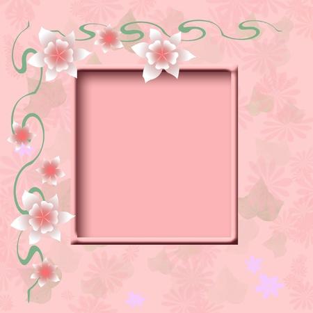 pink mottled background with cutout scrapbook illustration Stok Fotoğraf - 12184612