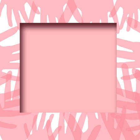 hands reaching frame illustration pink and white background