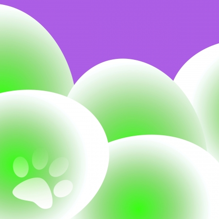 dyed: large dyed eggs on solid background illustration