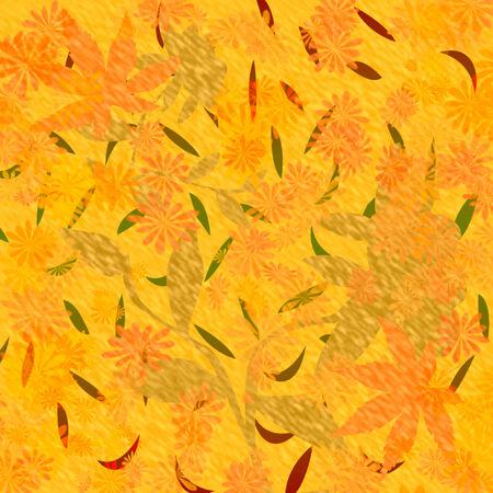 ecru: autumn color falling leaves scrapbook frame illustration