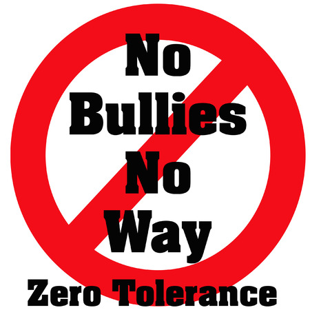 harass: zero tolerance bullies poster red and black illustration