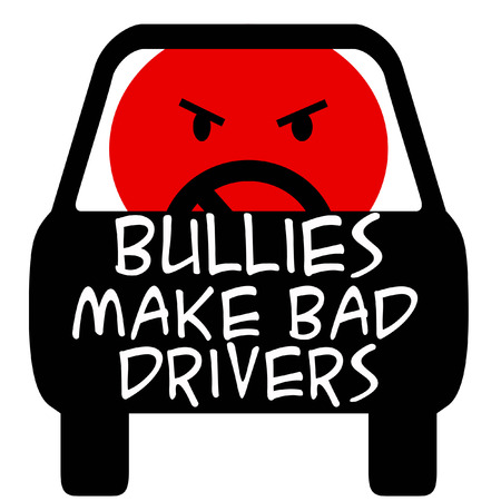 road rage: bully driver poster red and black illustration
