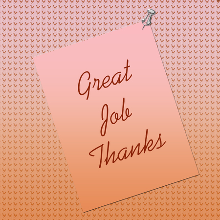 thumbtack: thank you note posted on textured background by thumbtack