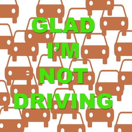 vehicles in traffic jam on white illustration