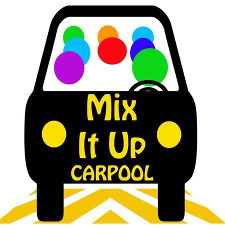 carpool mix it up poster colorful illustration