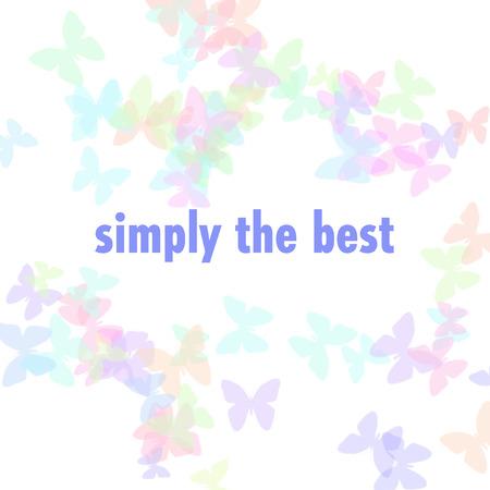 パステル蝶散在単に最高のイラスト