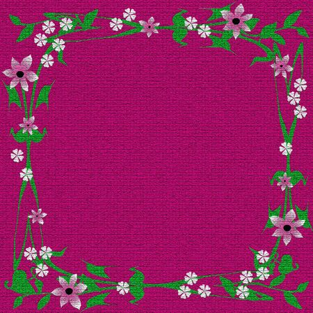 mauve textured background flowers border scrapbook illustration
