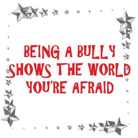 bully teken op witte achtergrond met metallic sterren grens illustratie