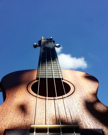 Brown bass acoustic guitar LANG_EVOIMAGES