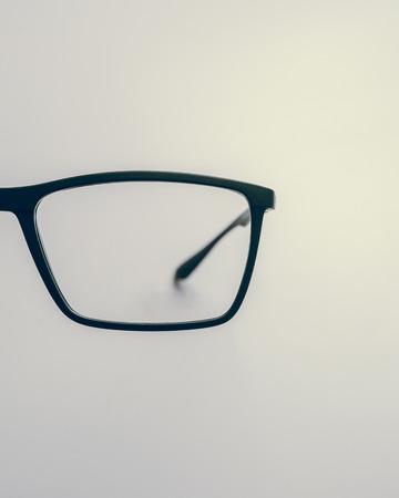 Eye glass with blue frame Stock fotó