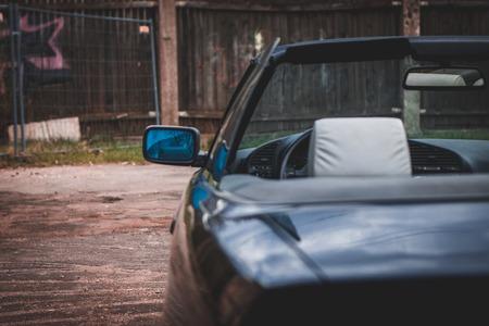 black convertible car