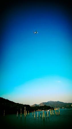 airline under blue sky