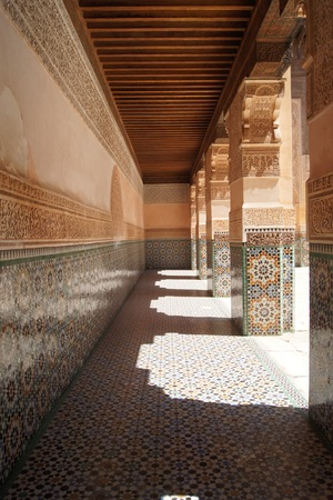 Corridor near pillars