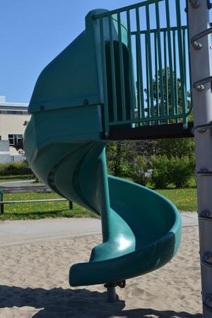 railed entry to slide