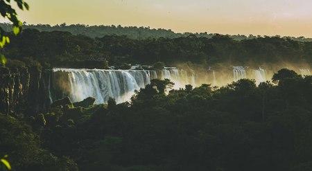 water falls from mount Stok Fotoğraf