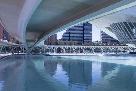 water under curved bridge Stock Photo