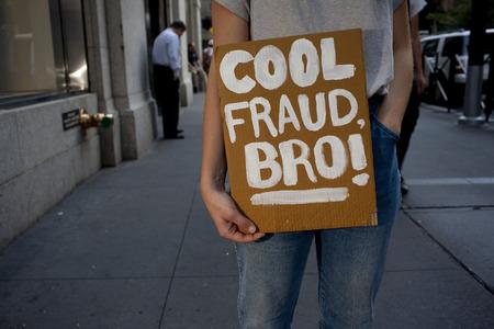 Cool fraud bro is written