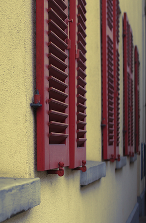 shutters between ledges
