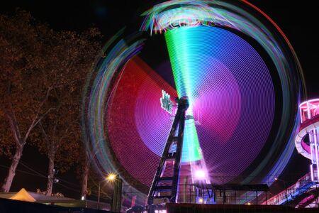 colorful circular lights Stok Fotoğraf