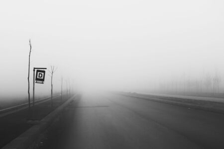 grayscale photography of pavement road