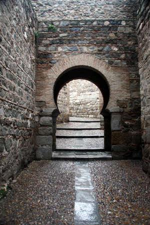 keyhole stone entryway