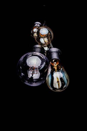 several clear glass light bulbs 版權商用圖片