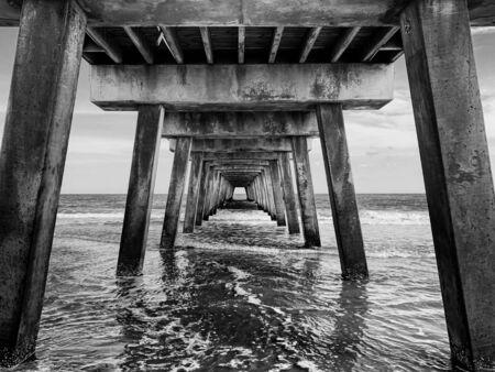 water under dark bridge