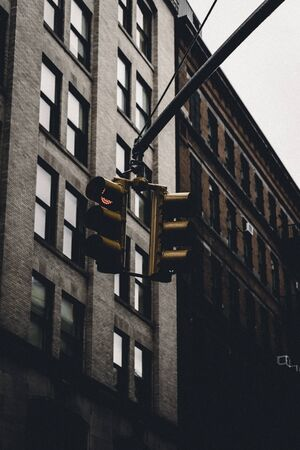stop light low angle photography Imagens