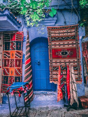 two multicolored mats