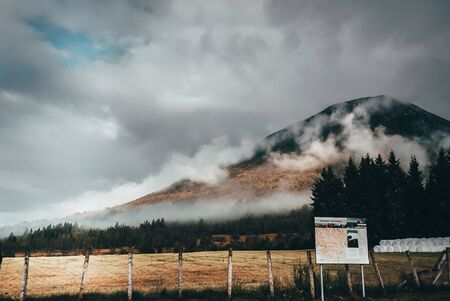 sign near mountain
