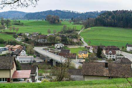 road between houses