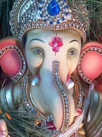 Ganesha statue in room