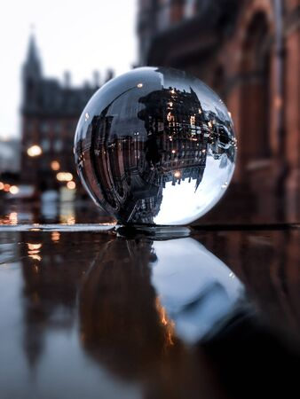 clear glass globe