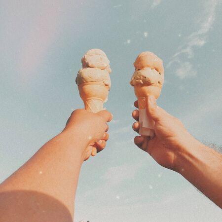 Two ice creams Banco de Imagens