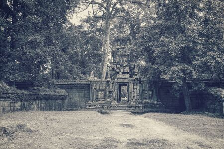 architectural gate at temple