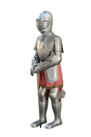 Medieval armor isolated over white photo