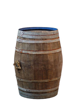 beer barrel: Barrel isolated on white Stock Photo