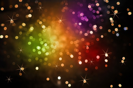 Colorful Sparkles in the dark night sky Stock Photo - 11645570