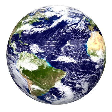 Color image of earth. Special thanks for the earth image (www.visibleearth.nasa.gov