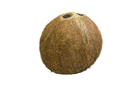 Coconut on isolated white background.