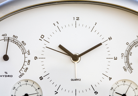 Table clock close up. Time concept.